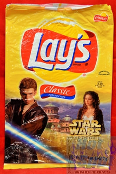 Lays Classic Potato Chips Star Wars Episode 2 Bag