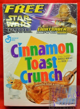 Cinnamon Toast Crunch Star Wars Episode 2 Cereal Box