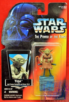 Red Card Yoda with Jedi Trainer Backpack and Gimer Stick