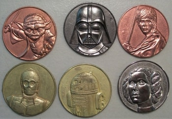 California Lottery Star Wars Coin set of 6