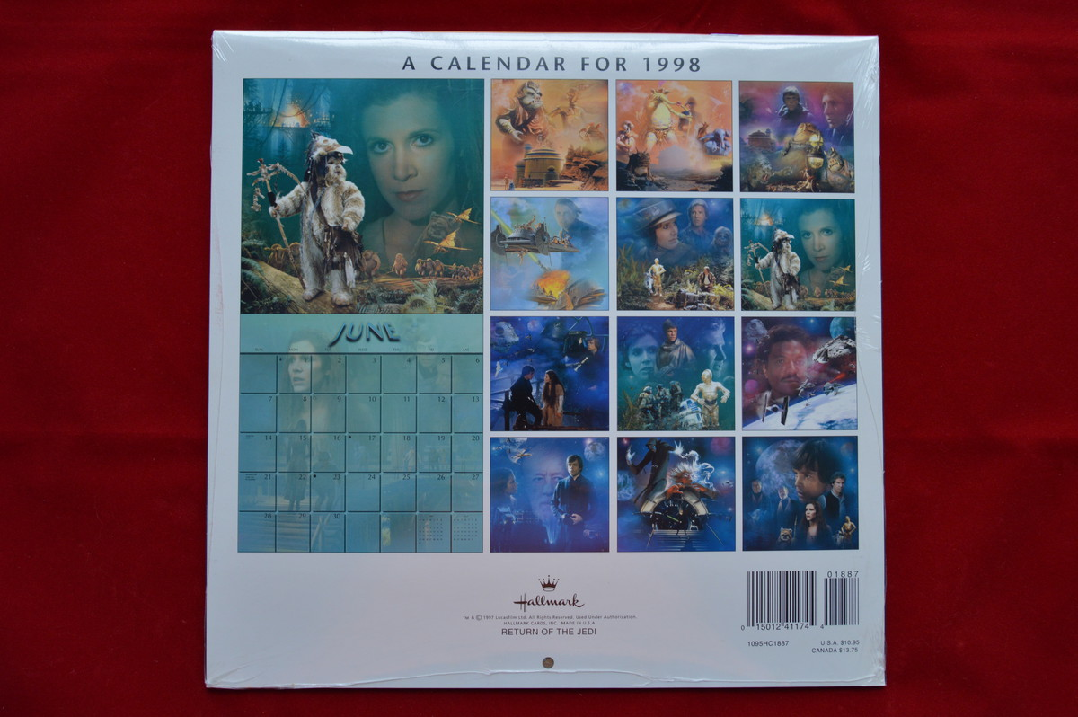 Hot Spot Collectibles And Toys 1998 Star Wars Rotj Leia Calendar