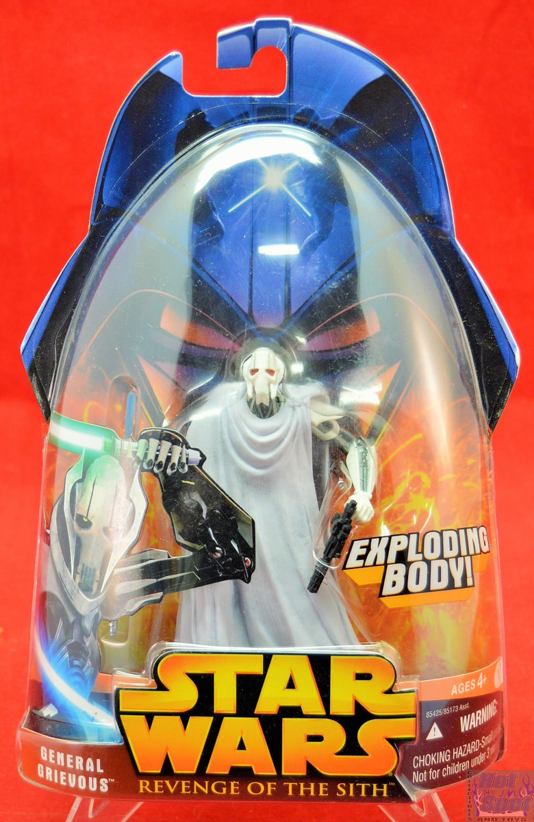 Hot Spot Collectibles And Toys Revenge Of The Sith General Grievous Action Figure Exploding Body