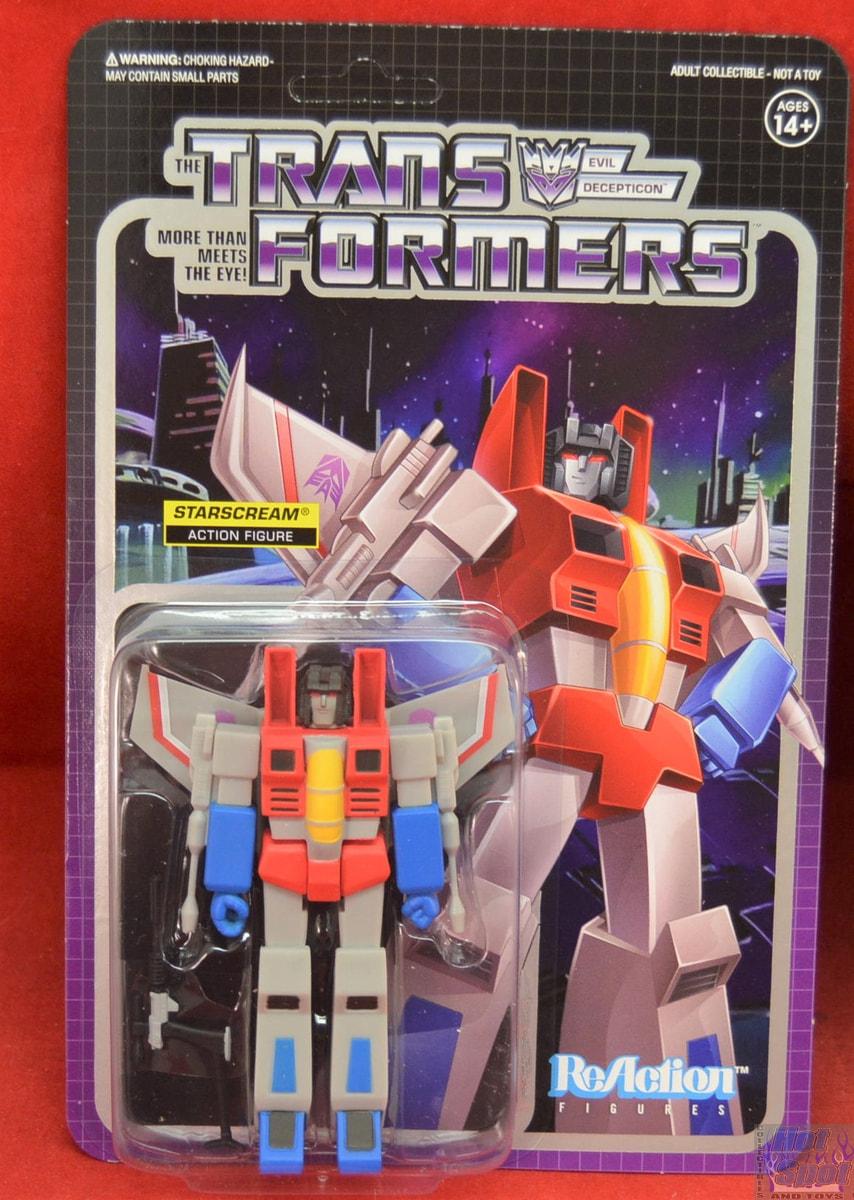 Transformers Optimus Prime réaction Collectible Figure Super 7 Chop