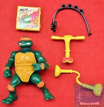 1991 Head Droppin' Mikey Action Figure w/ Accessories