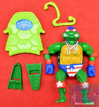1991 Turtle Games Raphael Action Figure w/ Accessories