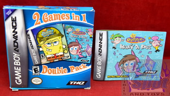 Spongebob Squarepants Fairly Odd Parents Double Pack Case & Manual