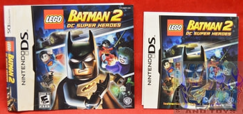 Batman 2 DC Super Heroes BOOKLET AND SLIP COVER ONLY