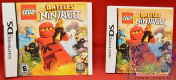 LEGO Battles Ninjago BOOKLET AND SLIP COVER ONLY