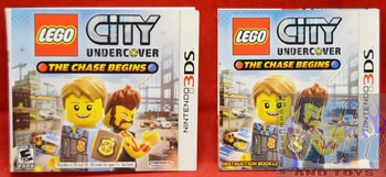 Lego City Undercover The Chase Begins BOOKLET AND SLIP COVER ONLY
