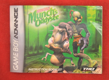 OddWorld's Munch's Oddysee Booklet