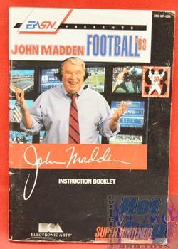 John Madden Football '93 BOOKLET ONLY