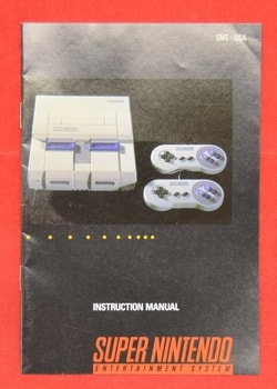 SNES Instruction Manual