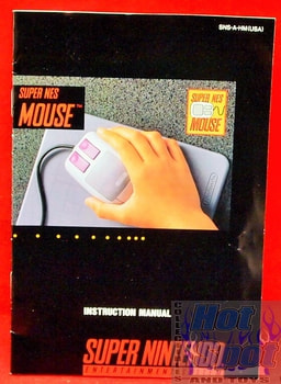 SNES Mouse Instruction Manual