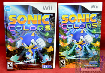 Sonic Colors Slip Cover & Instruction Booklet