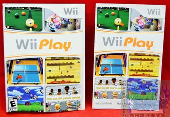 Wii Play Instructions Booklet and Slip Cover