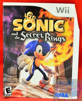 Sonic and the Secret Rings SLIP COVER ONLY