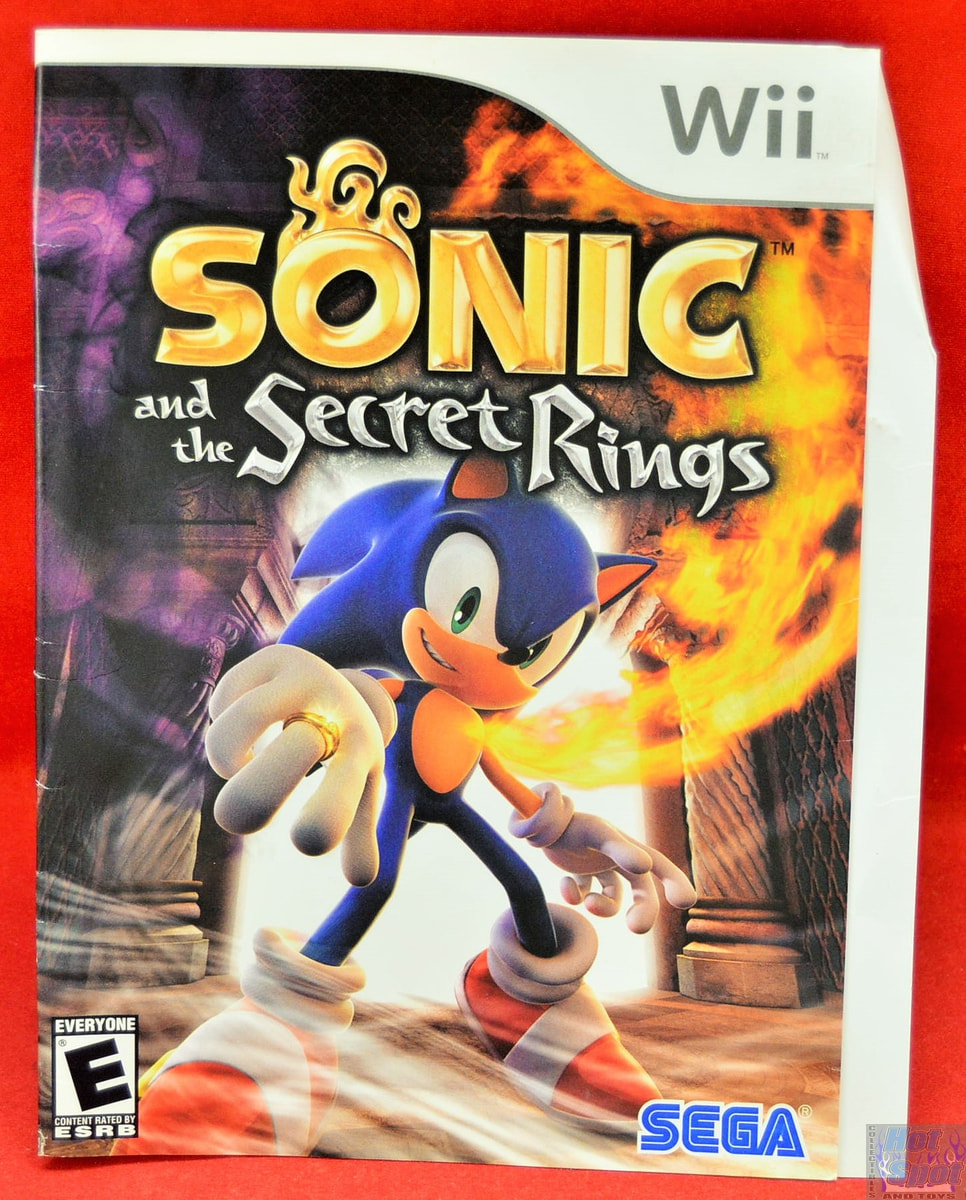 Hot Spot Collectibles And Toys Sonic And The Secret Rings Slip Cover Only