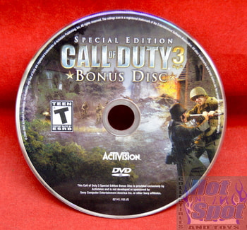 Call of Duty 3 Special Edition Game Bonus Disc Only