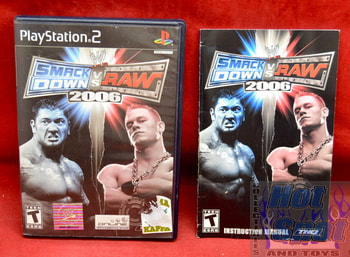 Smack Down vs. Raw 2006 Original Case & Instruction Booklet