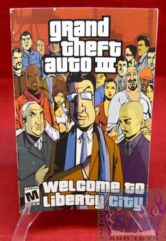 Grand Theft Auto III Welcome to Liberty City Instruction Booklet w/ Poster