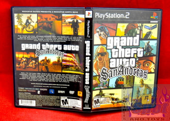 Grand Theft Auto San Andreas Case, Booklet, & Map