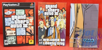 Grand Theft Auto III Instructions Booklet Slip Cover