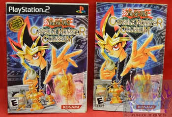 Yugioh Capsule Monster Coliseum Instructions Booklet and Slip Cover