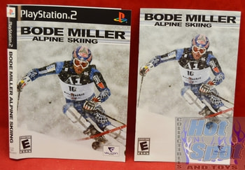 Bode Miller Alpine Skiing Instructions Booklet and Slip Cover