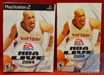 NBA Live 2004 Instructions Booklet and Slip Cover