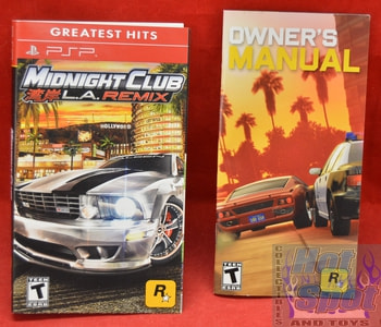 Midnight Club L.A Remix Instructions Booklet and Slip Cover