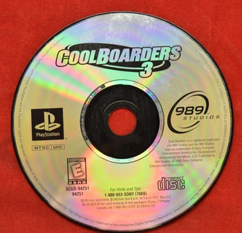 Cool Boarders 3 Disc Only