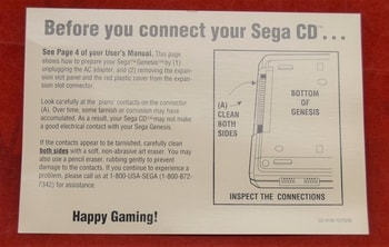 Sega CD Isert Card